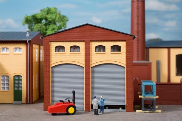 Auhagen 80629 H0-BauKastenSystem / Bauteile: Wände 2391G gelb, Tore L (je 2 x Holztore & Rolltore)
