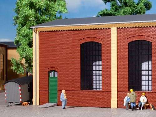 Auhagen 80502 H0-BauKastenSystem / Bauteile: Wände 2325B rot, Industriefenster E