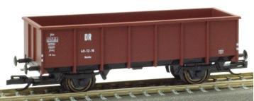 PSK 2753 TT-Offener Güterwagen Ep. III, eingestellt bei der DR