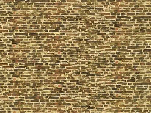 """Auhagen 50116 H0/TT 5-Dekorpappen """"Kalksteinmauer"""", klein"""