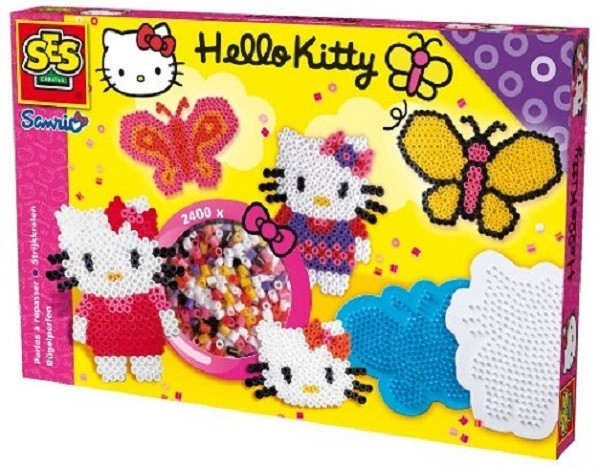 "SES-Creative 14752 Bügelperlen - 2400 Stück ""Hello Kitty"""