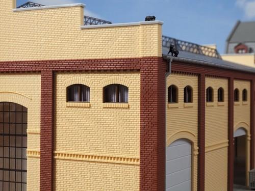 Auhagen 80215 H0-BauKastenSystem / Bauteile: Fenster M braun
