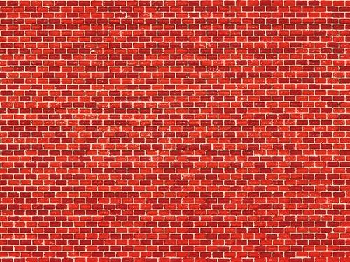 """Auhagen 50504 H0/TT 1-Dekorpappe """"Ziegelmauer"""", rot"""