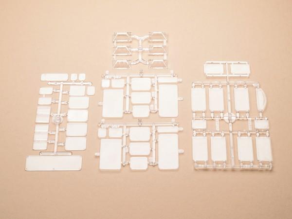 Auhagen 48251 H0/TT-Bauteile: Fensterscheiben, Oberlichtfenster