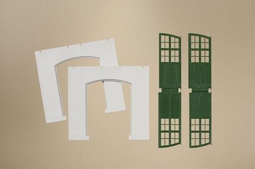 Auhagen 80705 H0-BauKastenSystem / Bauteile: Wände 2326C geputzt, Tore I grün