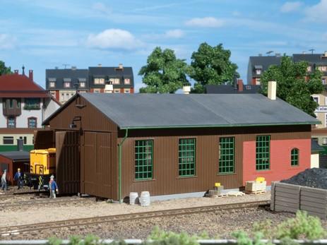 "Auhagen 11332 H0-Modellbausatz, ""Lokschuppen - zweiständig"""