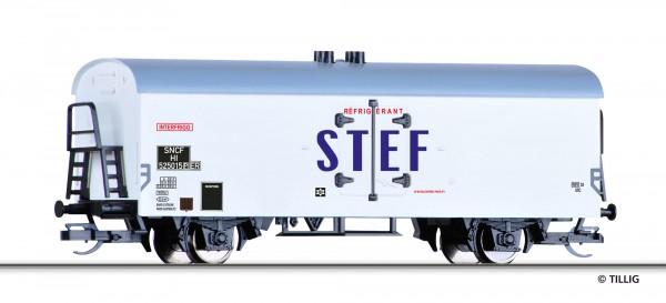 """Tillig 521589 TT-Kühlwagen Ep. III, der """"Interfrigo / STEF"""", eingestellt bei der SNCF"""