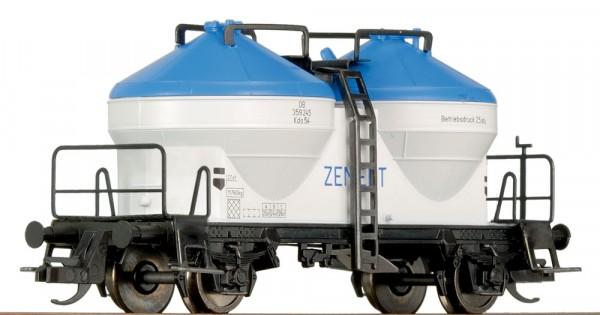 Tillig 14421 TT-Zementsilowagen, (blau-weiß) Ep. III, eingestellt bei der DB
