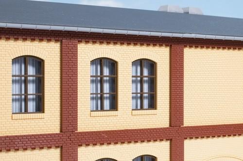 Auhagen 80416 H0-BauKastenSystem / Bauteile: Säulen Obergeschoss und Ziegelfriese rot