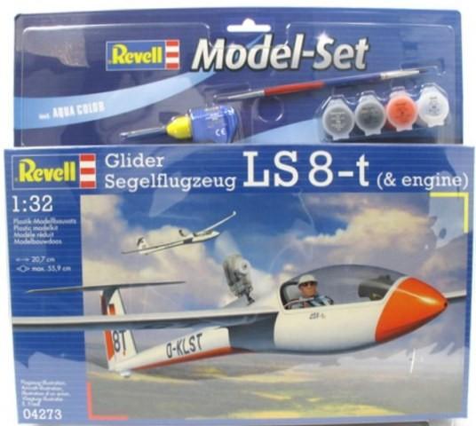 "Revell-Flugzeugmodell, 64273 Modell-Set m. ""Glider Segelflugzeug LS 8-t"""