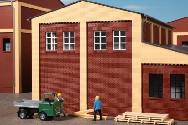Auhagen 80531 H0-BauKastenSystem / Bauteile: Wände 2579B rot