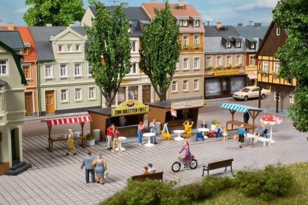 """Auhagen 11352 H0-Modellbausatz, """"Imbiss- & Marktstände"""""""