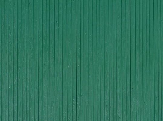 """Auhagen 52219 H0/TT 2-Dekorplatten """"Bretterwand"""", grün"""