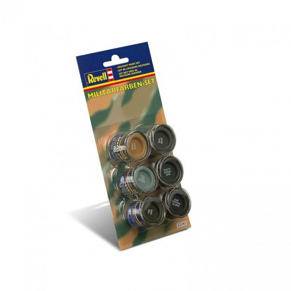 """Revell 32340 Email Color """"Militärfarben-Set"""", bestehend aus 6 Farben"""