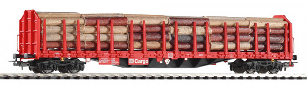 """Piko 54339 H0-Stammholztransportwagen mit Ladung, Ep. V, der """"DB-Cargo"""", eingestellt bei der DBAG"""