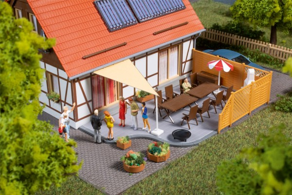 Auhagen 41650 H0-Ausschmückung-Zubehör, Terrassenausstattung