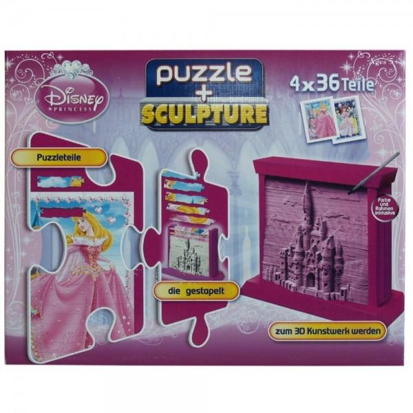 "puzzleSCULPTURE (Disney - Princess) 20033 Puzzle + Sculpture ""Prinzessin"""