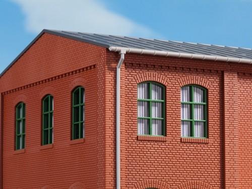 Auhagen 80209 H0-BauKastenSystem / Bauteile: Fenster grün