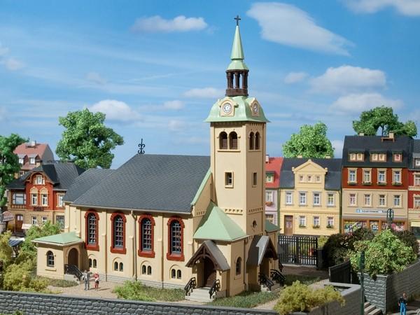 Auhagen 12229 H0/TT-Modellbausatz, Kirche Börnichen