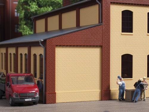 Auhagen 80408 H0-BauKastenSystem / Bauteile: Ecksäulen Anbau rot