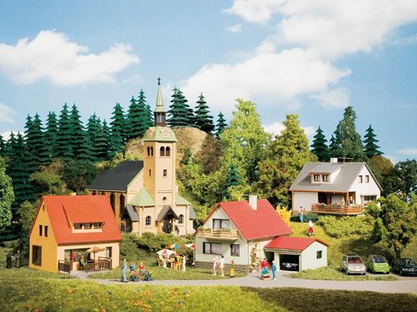 Auhagen 15201 H0/TT - Startset/Modellbausatz, Dorf Waldkirchen