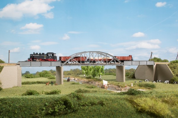 Auhagen 14483 N-(Modellbausatz), Stahlbrücke
