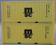 """PSK 6924 TT-Ladegüter, 2-teiliges Container Set bestehen aus 20ft Container von """"MSC"""""""