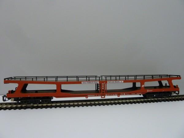 Krüger-TT-Modellbahn 9340 TT-Autotransportwagen ohne Fahrzeuge, Ep. IV, eingestellt bei der ÖBB
