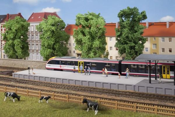 Auhagen 41634 H0-Gleisbau, Bahnsteig ohne Überdachung