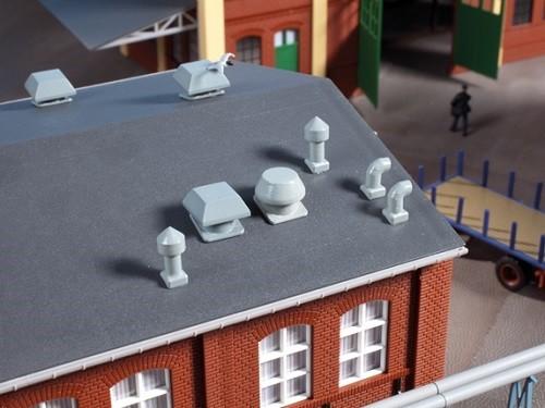 Auhagen 80103 H0-BauKastenSystem / Bauteile: Dachentlüfter