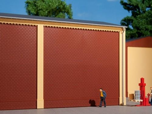 Auhagen 80500 H0-BauKastenSystem / Bauteile: Wände 2324A rot