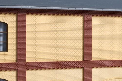 Auhagen 80626 H0-BauKastenSystem / Bauteile: Wände 2532D gelb