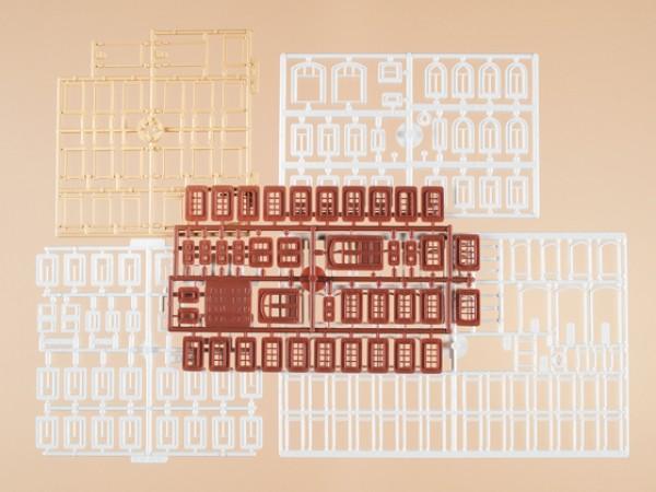 Auhagen 48648 H0/TT-Bauteile: Fenster, Fenstergewände, Türen