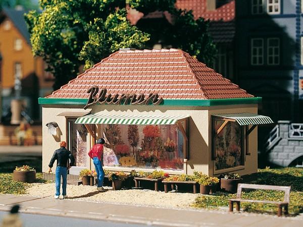 Auhagen 12349 H0/TT-Modellbausatz, Blumenkiosk