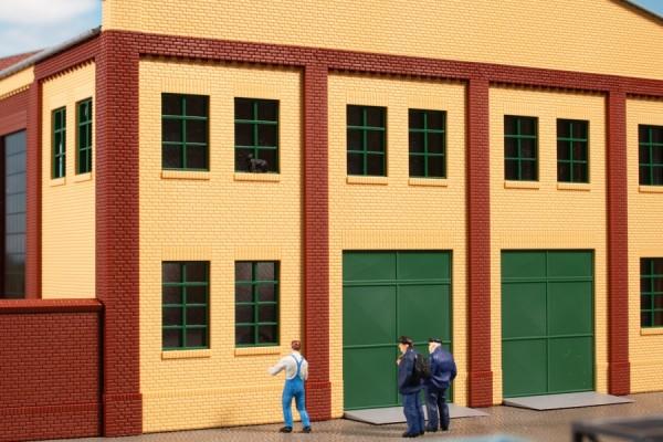 Auhagen 80224 H0-BauKastenSystem / Bauteile: Fenster Q, R grün