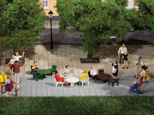 Auhagen 42647 H0/TT-Ausschmückungs-Zubehör, Gartentische & Gartenstühle