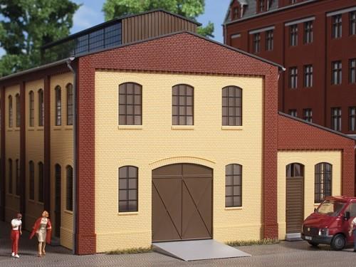 Auhagen 80618 H0-BauKastenSystem / Bauteile: Wände 2391A gelb, Industriefenster L