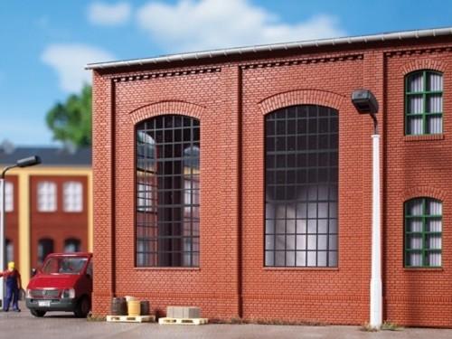 Auhagen 80509 H0-BauKastenSystem / Bauteile: Wände 2342N rot, Industriefenster E