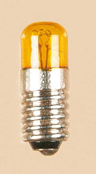 Auhagen 55753 1-Kleinstglühlampe mit Schraubsockel, E5,5 (16V), gelb / Zylinder