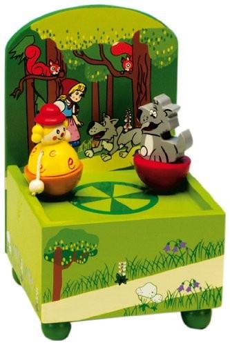 Spieluhr, Art.No. 43764, Rotkäppchen und der Wolf