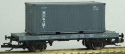 """PSK 1746 TT-Flachwagen beladen mit 1 x 20ft Container """"Morflot"""" Ep. IV, eingestellt bei der DR"""